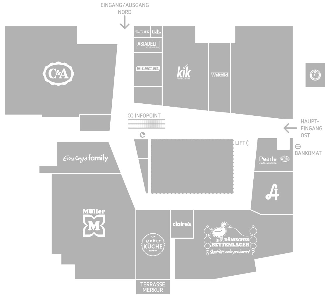 Lageplan Einkaufszentrum west Innsbruck